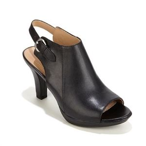 NEW Naturalizer Dawn Black Slingback Peep-Toe Heel